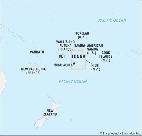 Tonga's Location in the South Pacific