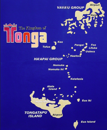 Map of Tongan Kingdom