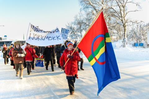Sami protest against mines