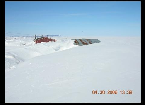 Shaktoolik buried in snow