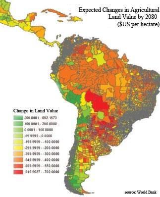 latin america agri map