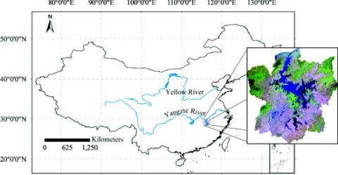 Location of Poyang Lake