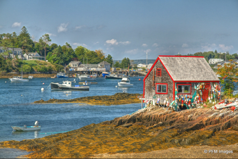Lobster boats on Coast of Maine
