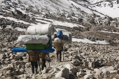 Sherpas on the trail