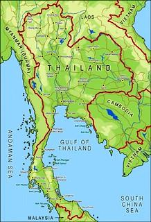 Thailand Map/Koh Chang island/South East Gulf Of Thailand